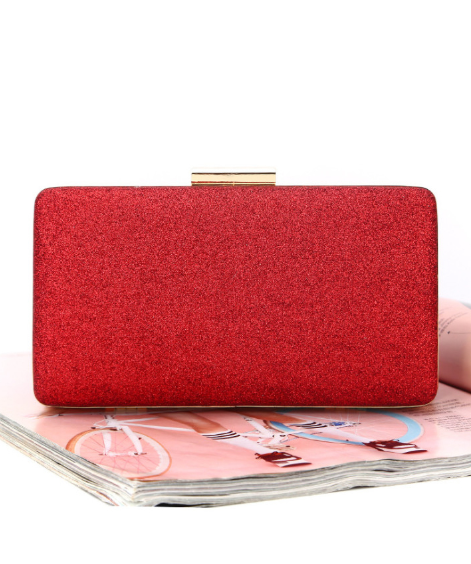 Image of GLITTER ME RED CLUTCH