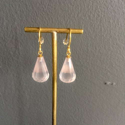 Image of Indian summer earrings- Rose Quartz