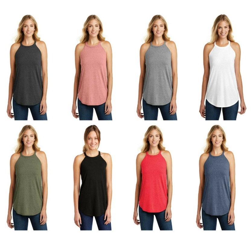 Image of Solid High Neck Tanks-PREORDER