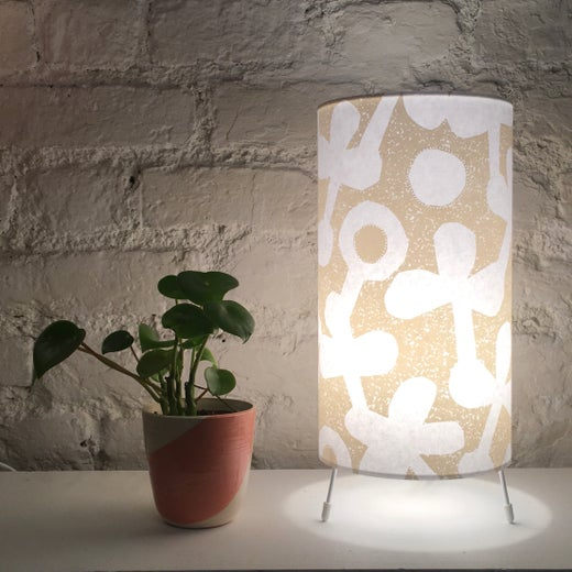 Clover Print Table Lamp