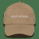 Image 2 of Free Indeed - Dad Hat - (Black & Sand)