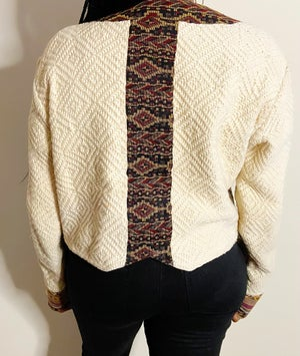 Image of Vintage Aztec Print Jacket - M/L