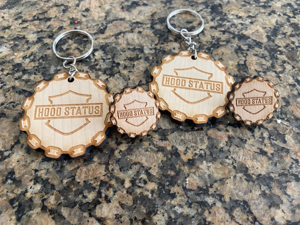 Image of Wood key chain
