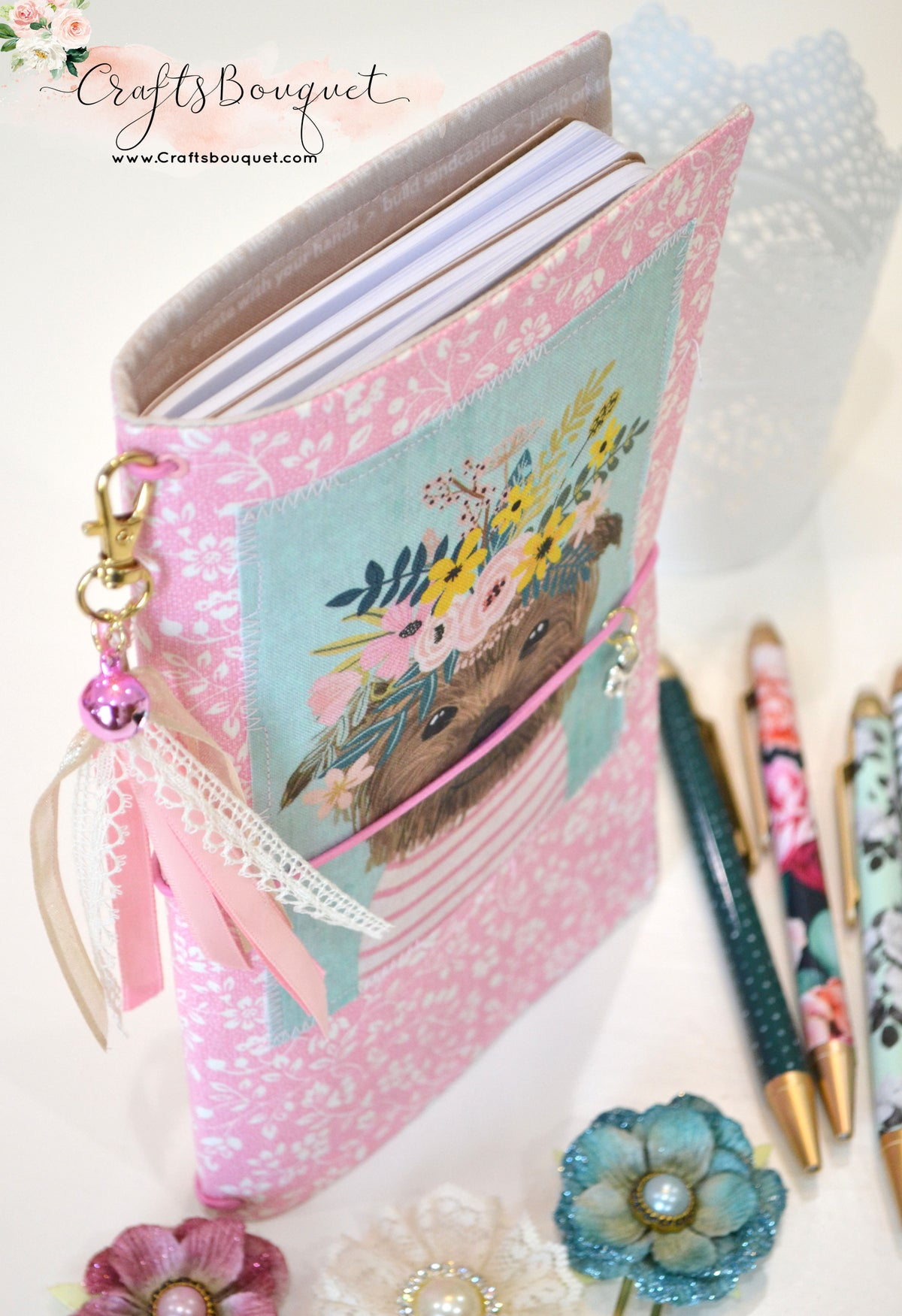 Image of Puppy Fabric Standard Journals