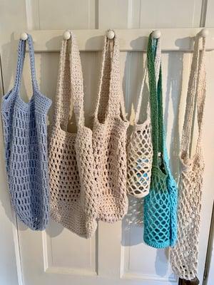 Image of Hand-crocheted farmer's market bag