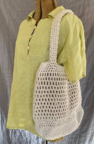 Image of Extra large and sturdy handmade market bag