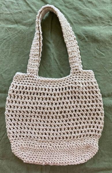 Image of Extra large and sturdy handmade market bag