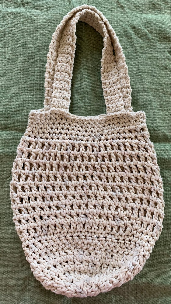 Image of Medium size  hand crocheted market bag