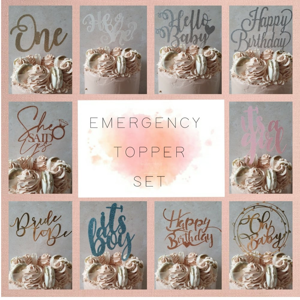 Image of Emergency Cake Topper pack