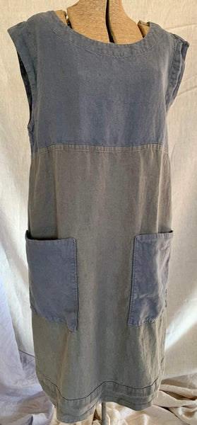 Image of two-toned linen shift