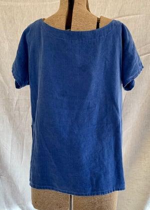 Image of cobalt linen top