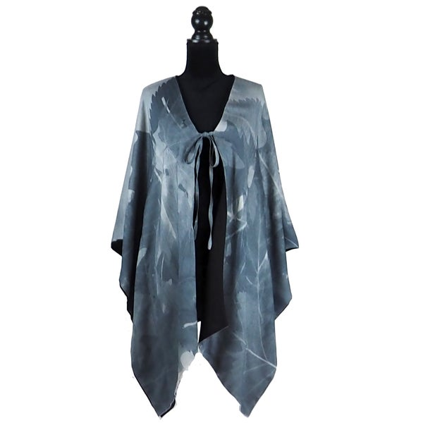 Image of Autumn Leaves Charcoal Kimono