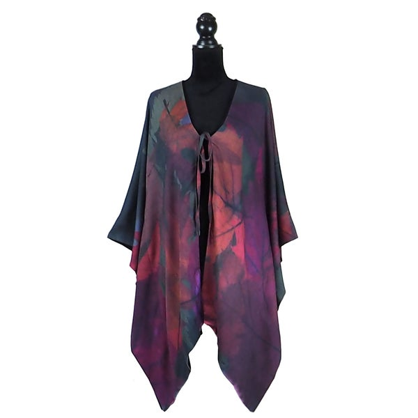 Image of Autumn Leaves Rouge Kimono
