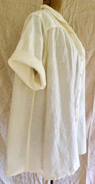 Image of full linen button tunic