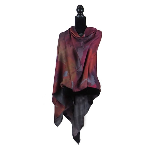 Image of Autumn Leaves Rouge Button Shawl
