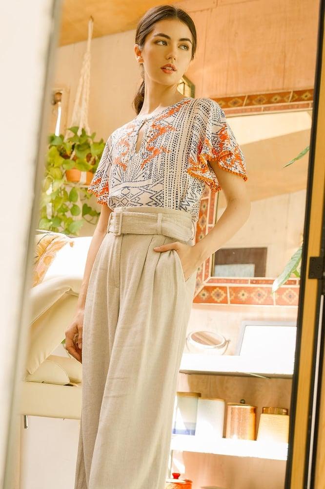 Image of Marisol Flutter Sleeve Top