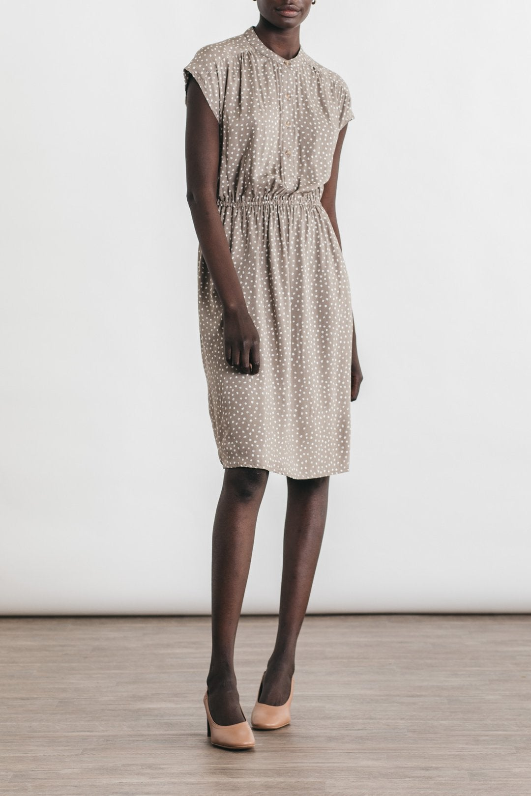 Image of Bridge + Burn Lorane Dress - Tan Dot