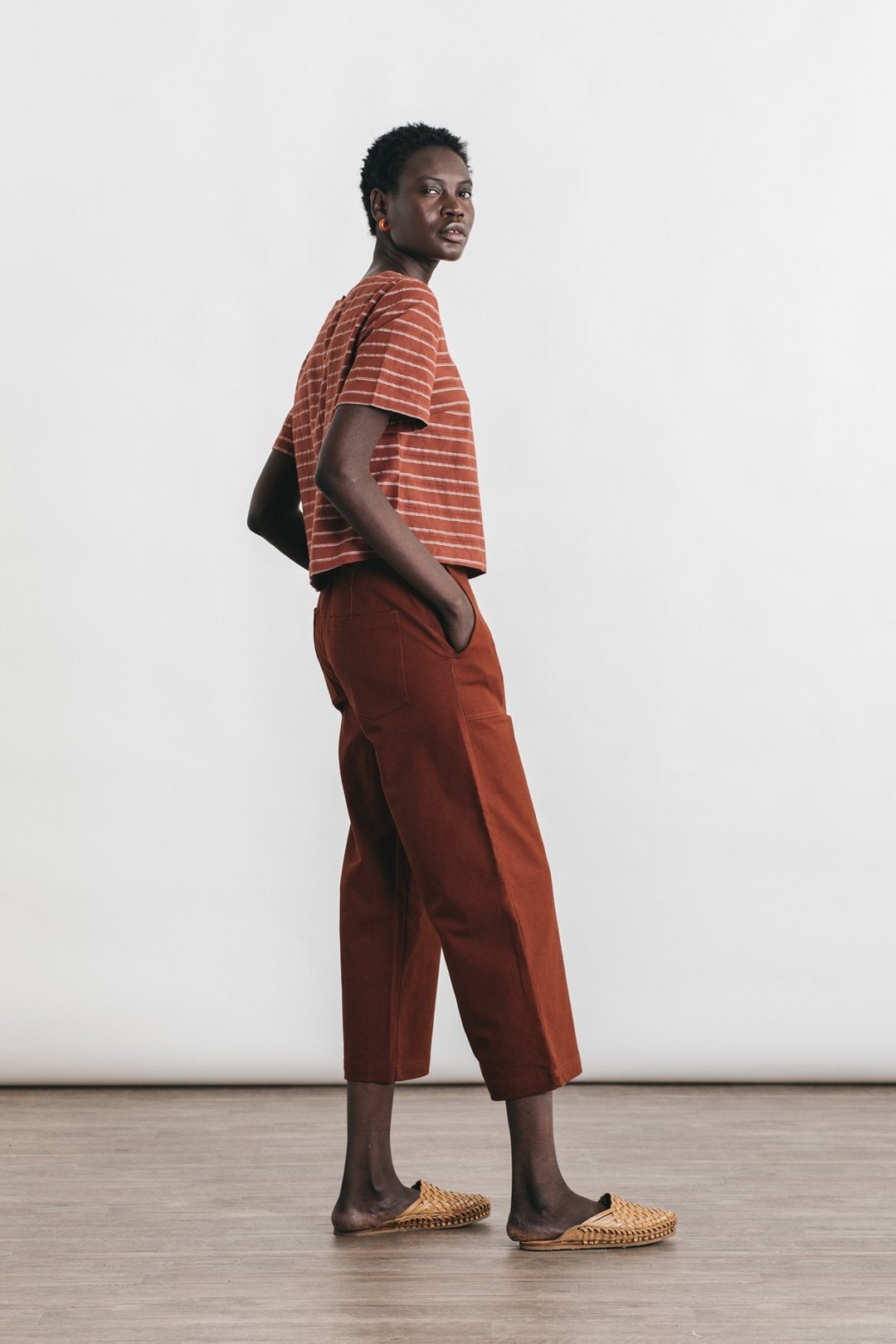 Image of Bridge + Burn Leona Top - Red Stripe