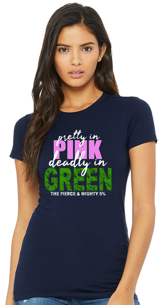 Image of PRETTY IN PINK ~ DEADLY IN GREEN