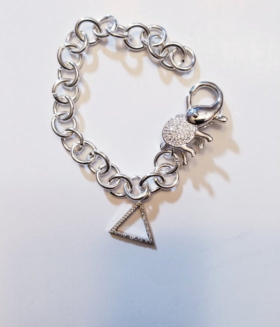 Image of Elephant Clasp Bracelet - Silver