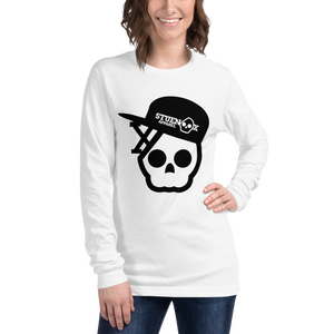 Image of Skull In A Fitted Hat Shirt