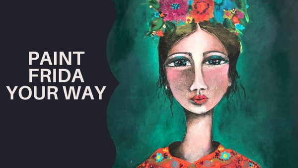 "Image of ""Paint Frida Your Way"" with ARTIST : Sharon Peterkin"