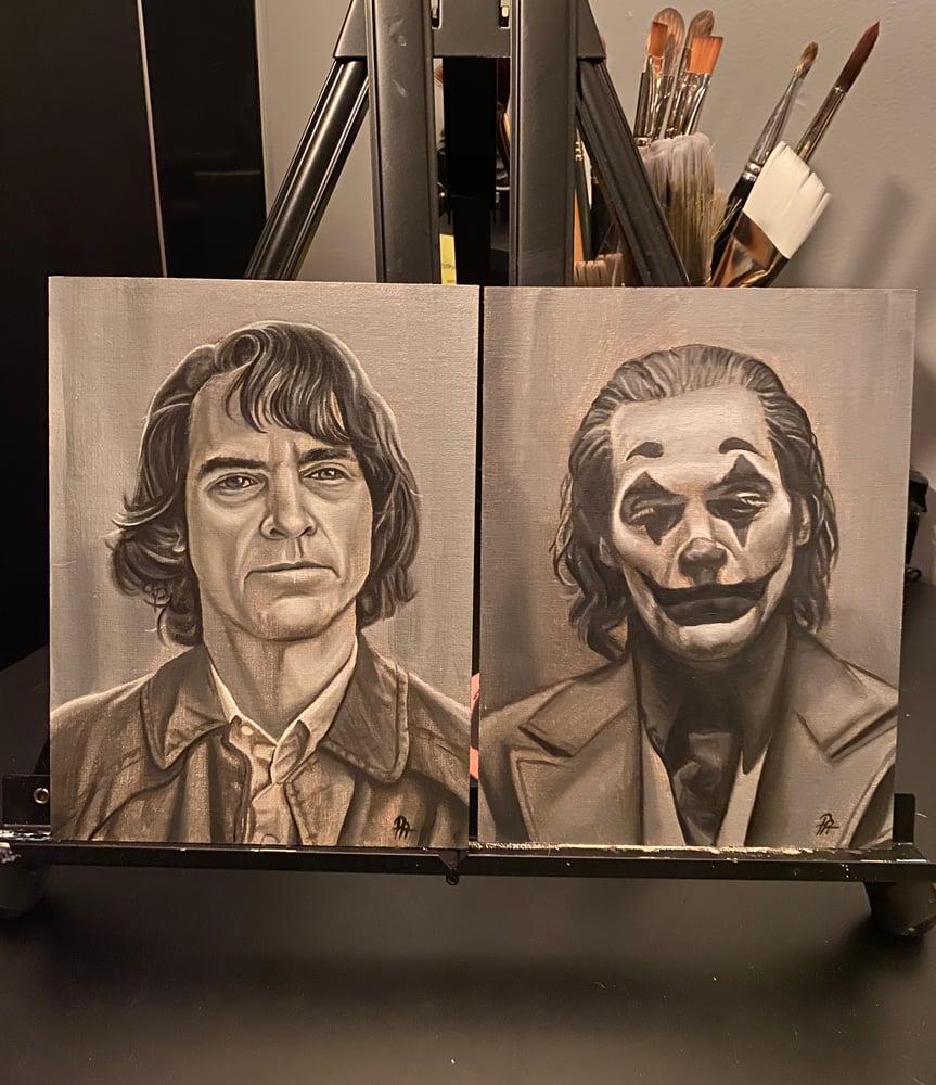 Image of Joker/Arthur Fleck Portrait Pair