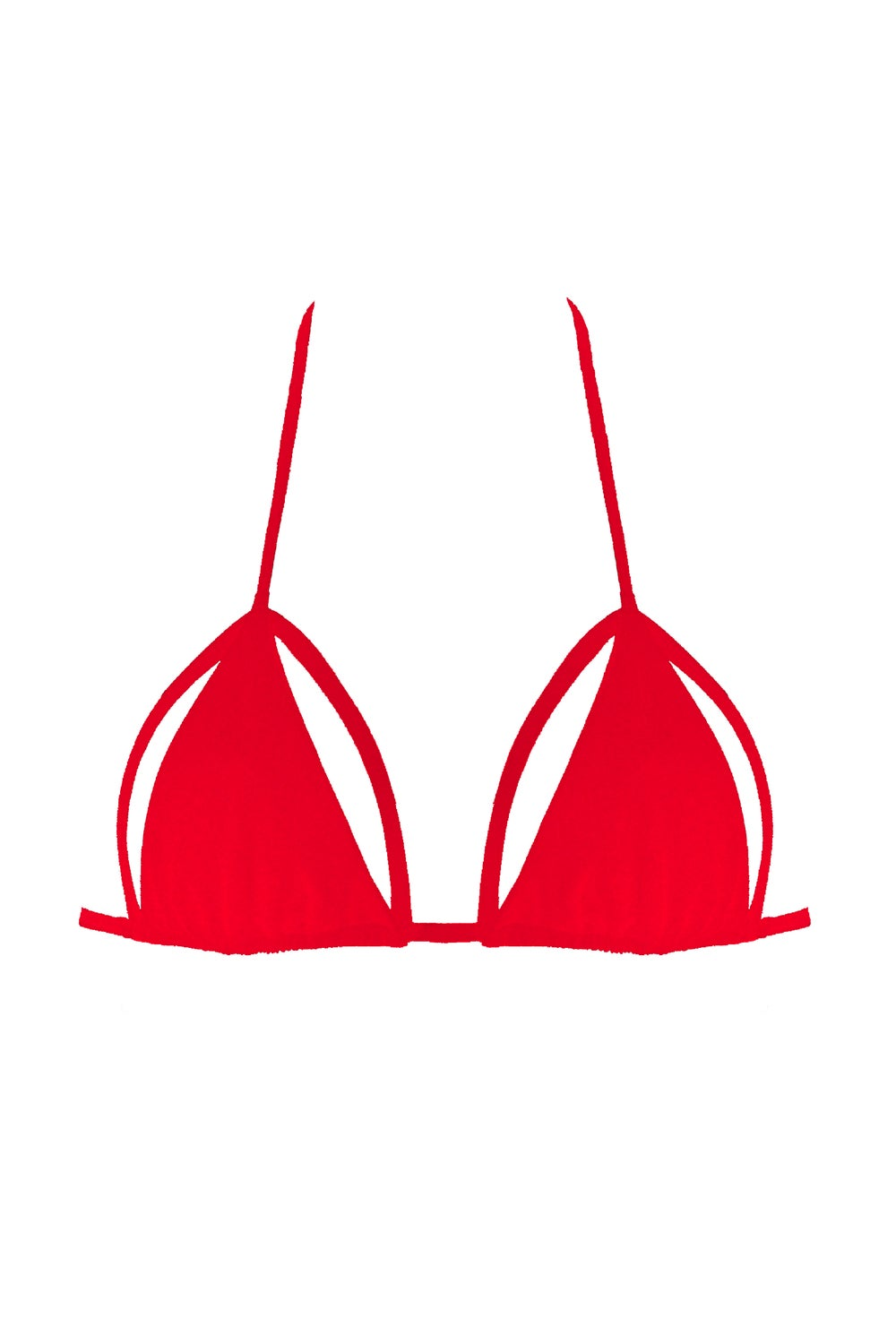 Image of Tiny Triangle Top - Hot Red