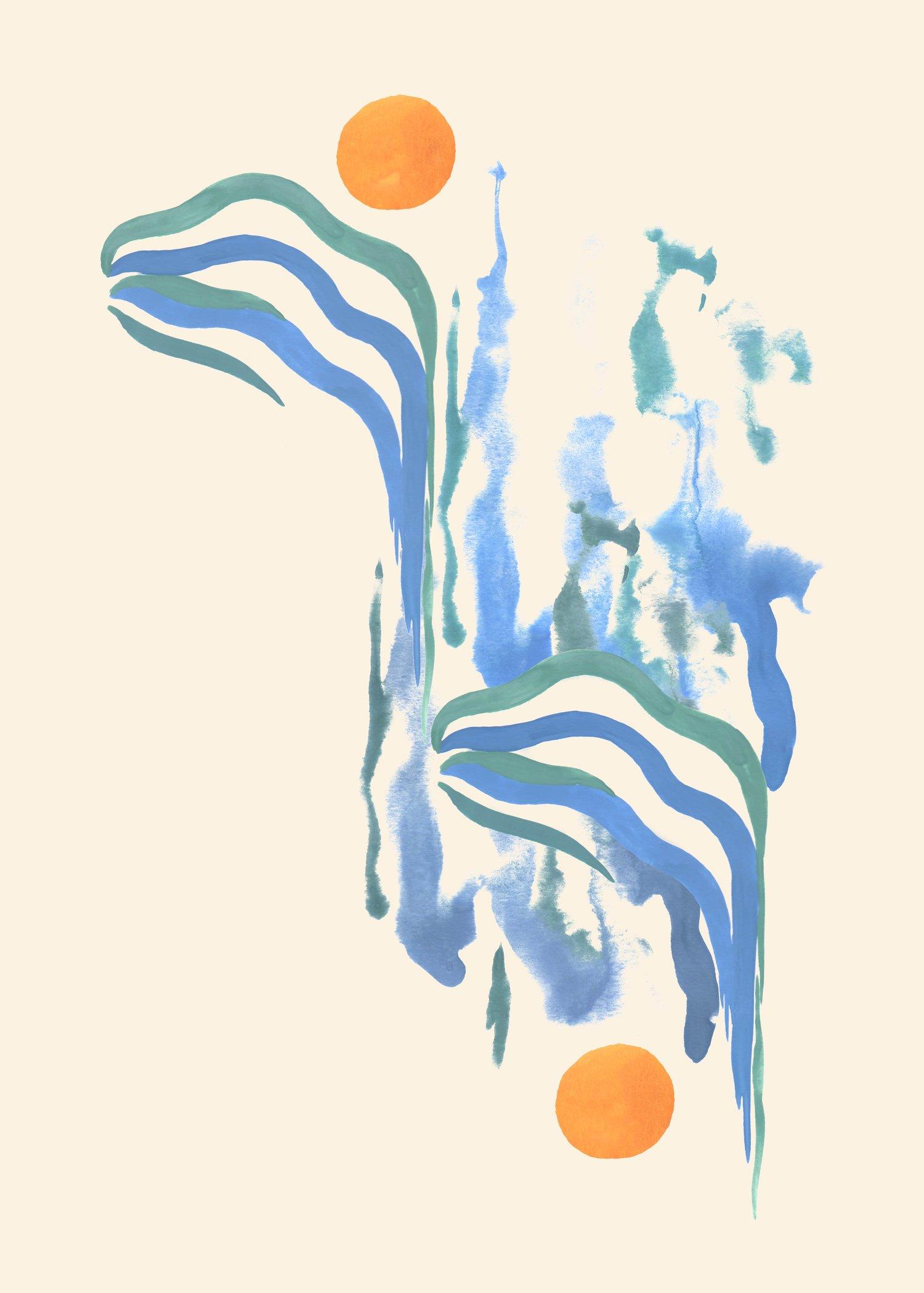 """Image of """" Deux Soleils """" / 50x70 cm"""