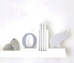 Image of Bookends - initial and animal