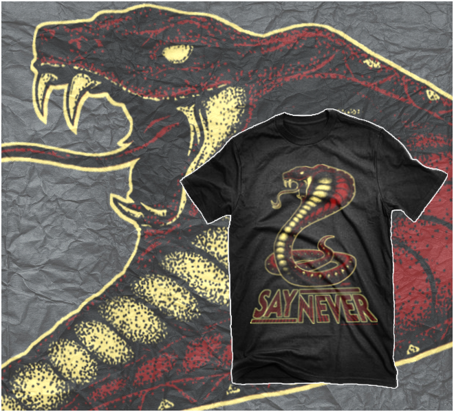 "Image of ADULT SAY NEVER ""COBRA"" T-SHIRT   S,M,L,XL,2XL,3XL"