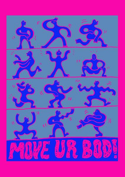 Image of 'MOVE UR BOD!' Giclée Print