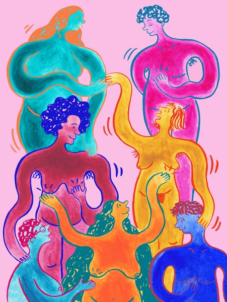 Image of 'Embrace Your Boobs' Giclée Print