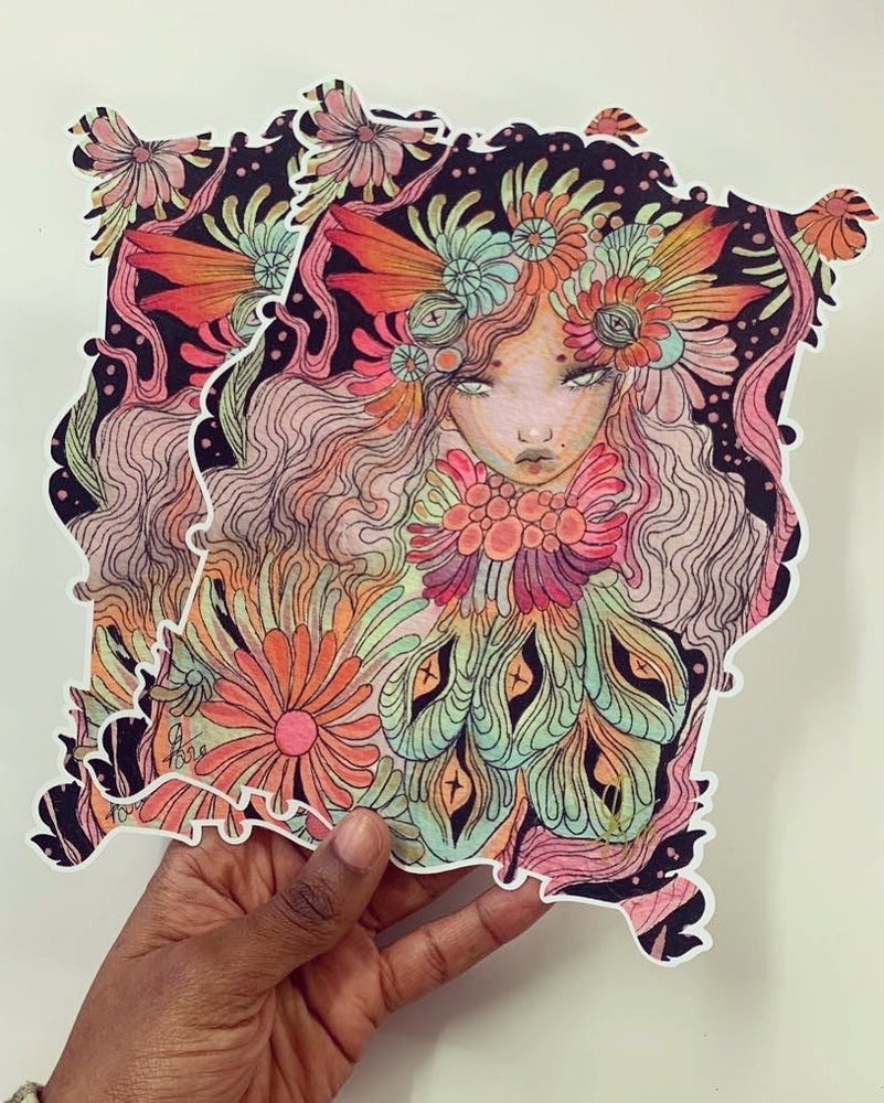 Image of Night fairy A5 cut out print