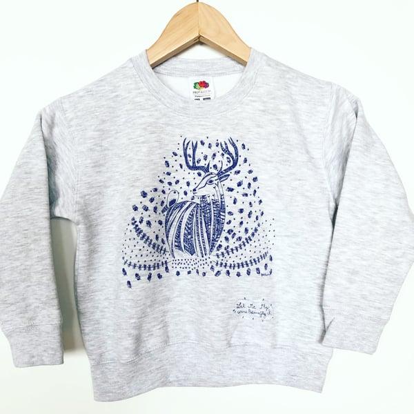 Image of Kid's Sweat-Shirt *Deer*