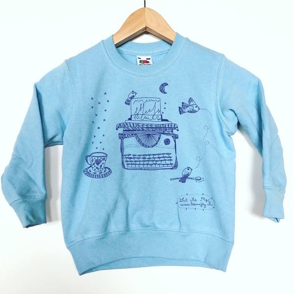 Image of Kid's Sweat-Shirt *Typewriter*