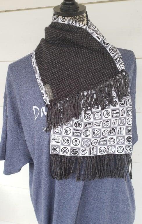 Image of Monochromatic Superheroes Handwoven scarf, handmade