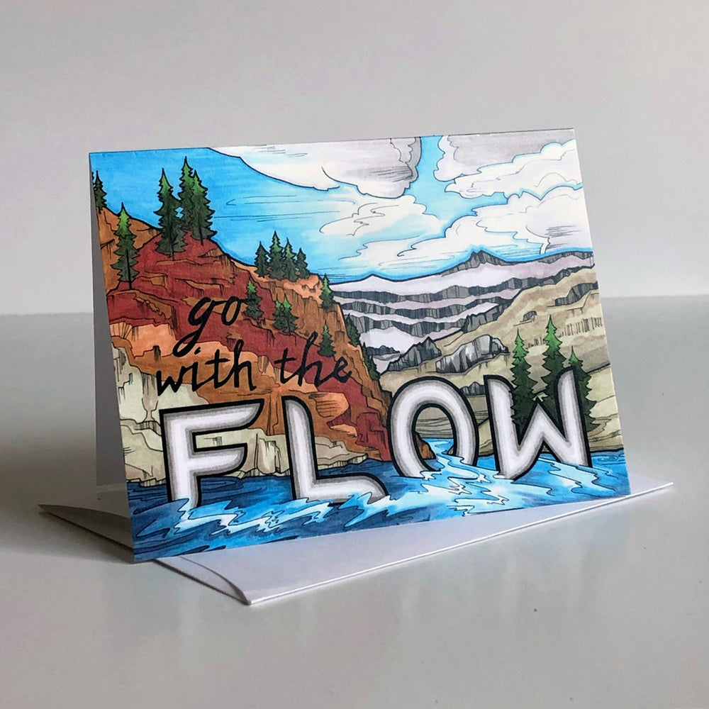 Image of FLOW greeting card
