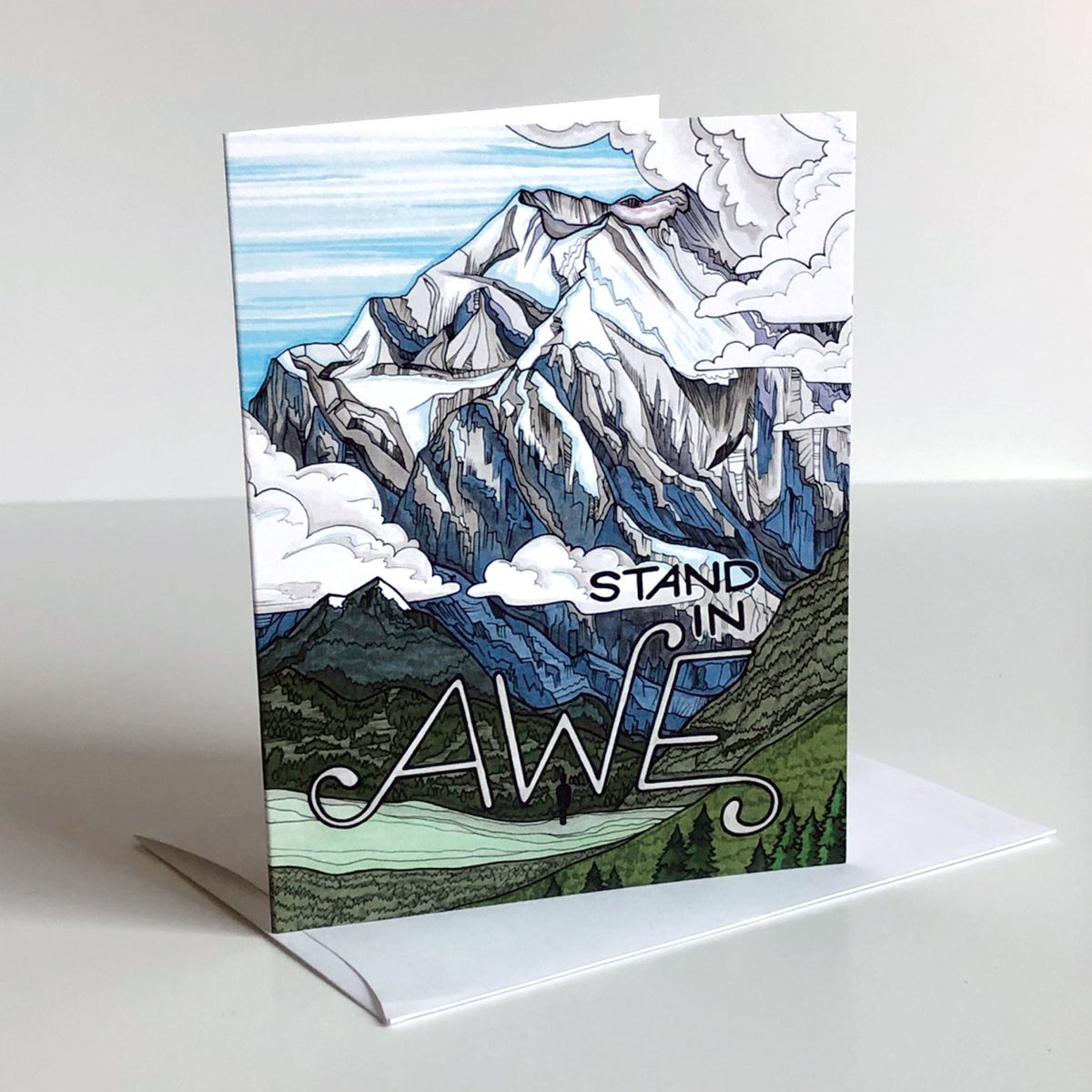Image of AWE greeting card