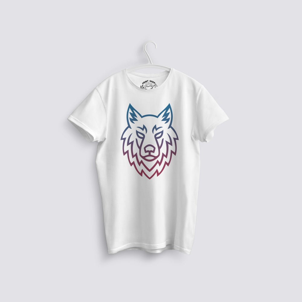 Image of Luna Wolf Face Organic T-Shirt