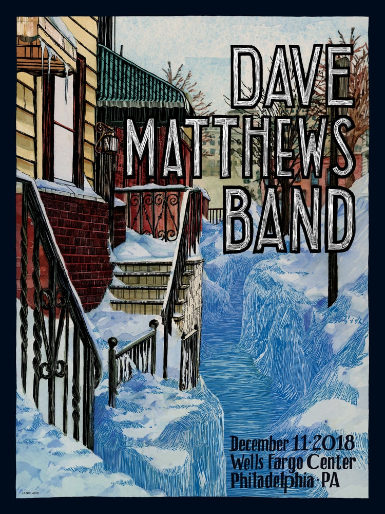 "Image of LAST COPIES: Dave Matthews Band (Philadelphia, PA, 2018) • L.E. Official Poster (18"" x 24"")"
