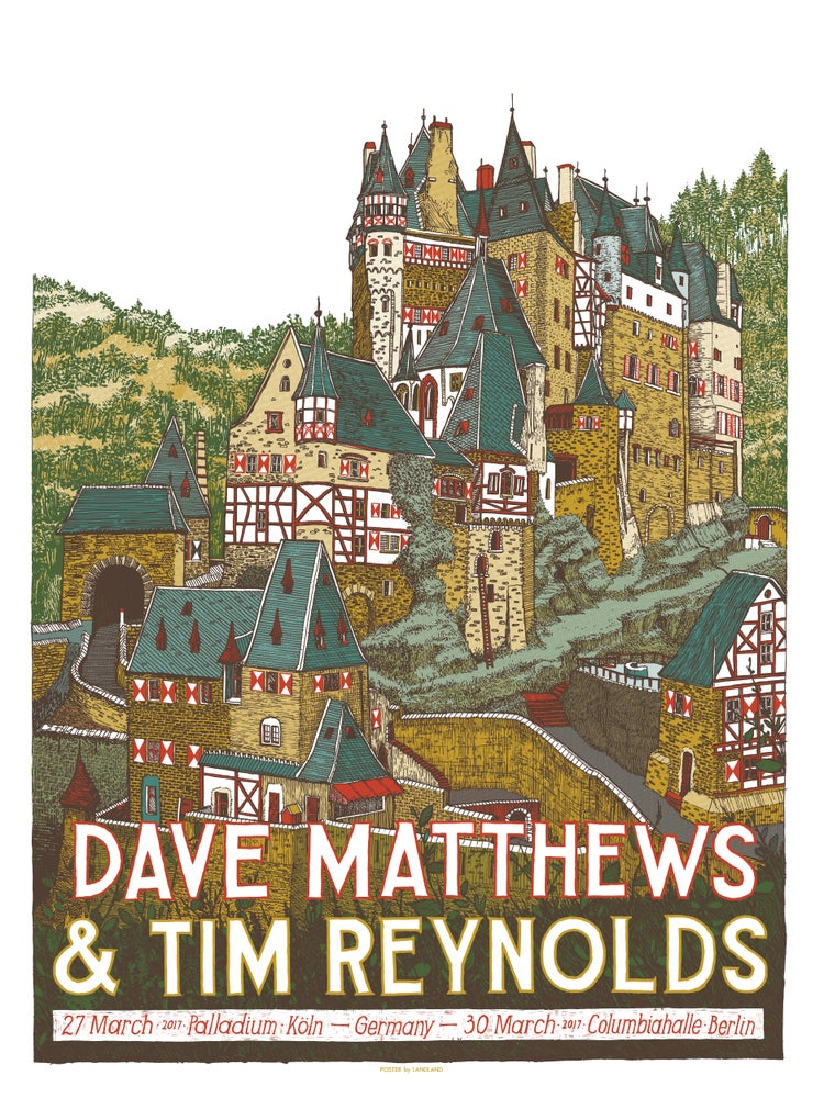 Image of LAST COPIES: Dave Matthews & Tim Reynolds (Germany, 2017) • L.E. Official Poster