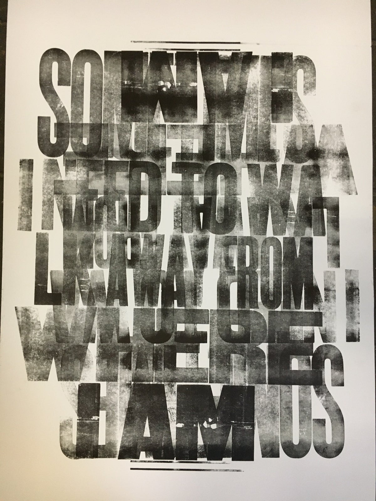 Image of One-off Typo Poster #1-060