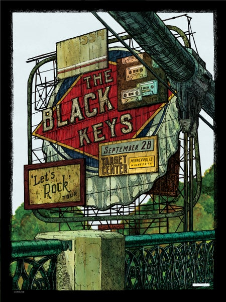 "Image of LAST COPIES: The Black Keys (Minneapolis) • L.E. Official Poster (18"" x 24"")"