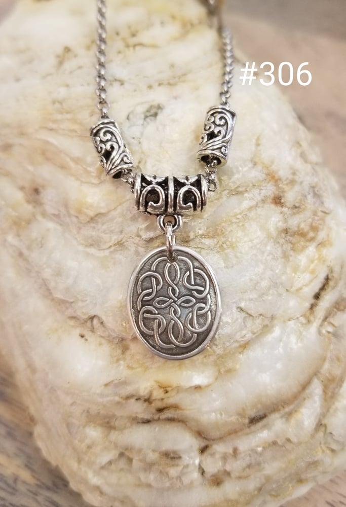 Image of  Fine Silver- Handmade-Celtic Pendant- Necklace- #306