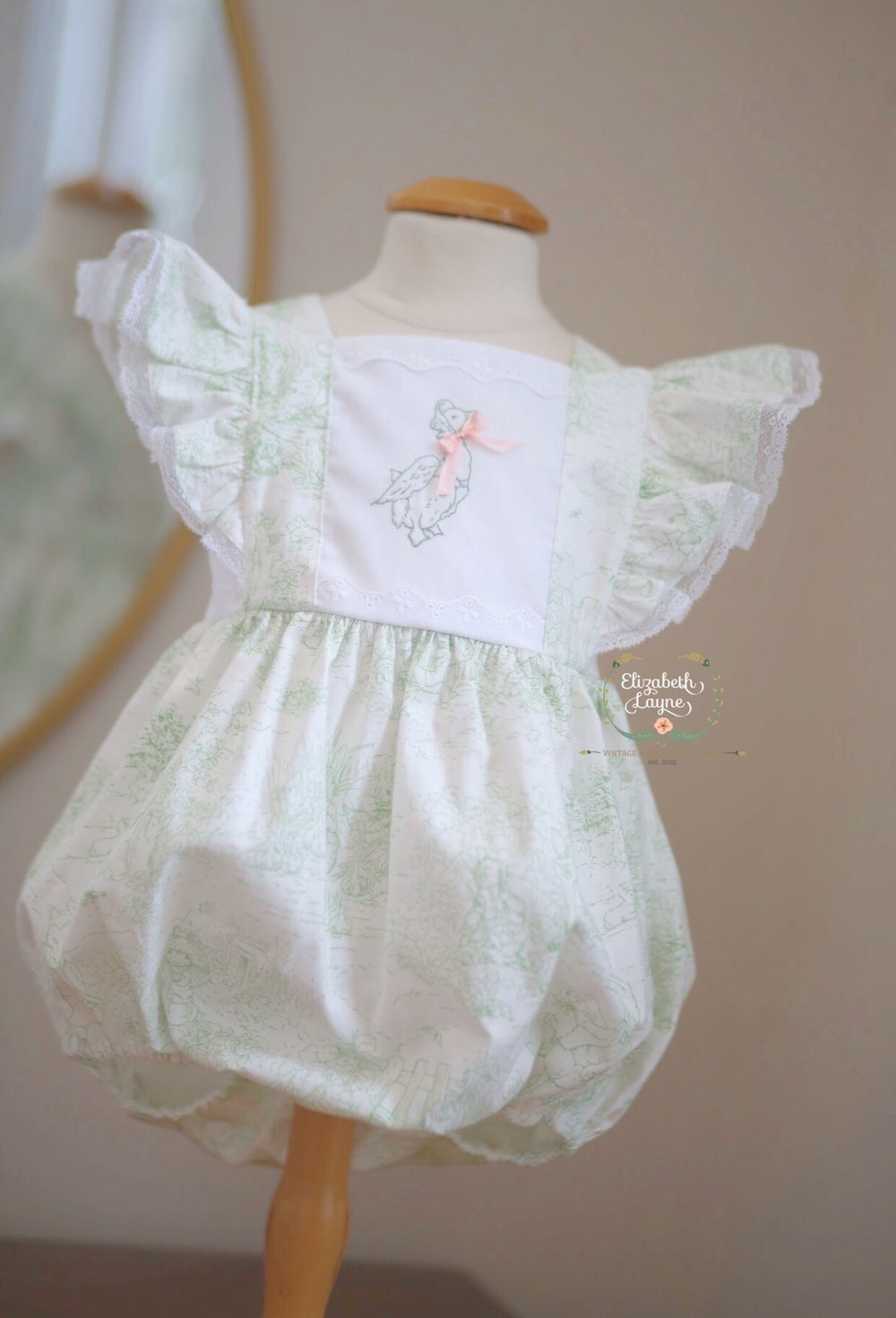 Image of Spring Green Toile Jemima Puddle Duck Legacy Bubble