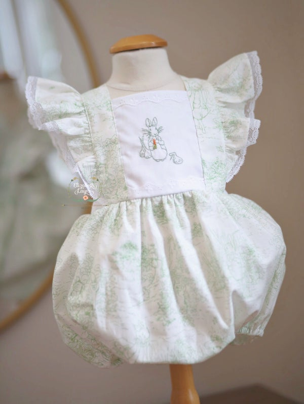 Image of Spring Green Toile Beatrix Potter Legacy Bubble