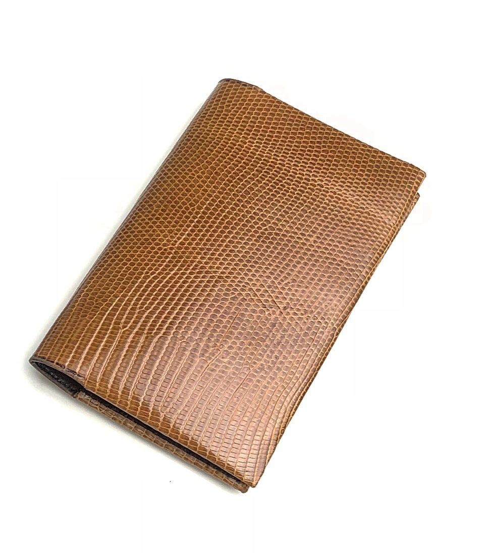 Image of Tan Lizard Seamless Cardholder N°2