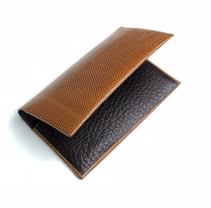 Image of Tan Lizard Cardholder N°2