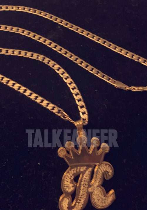Image of Royalty Custom initial 3D Necklace